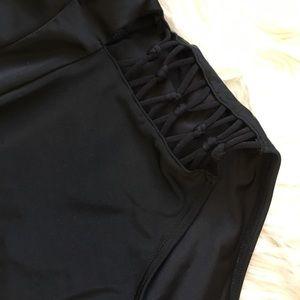 Wolf & Whistle Swim - Wolf & Whistle Plunge Macrame Lace Up Swimsuit